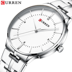 Men's Steel Band Quartz Watch Waterproof Watch Casual Business Men's Watch