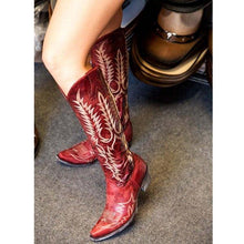 Load image into Gallery viewer, Women Mid-calf Vintage Boot Shoes