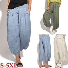 Load image into Gallery viewer, Casual Button Comfy Loose Pants