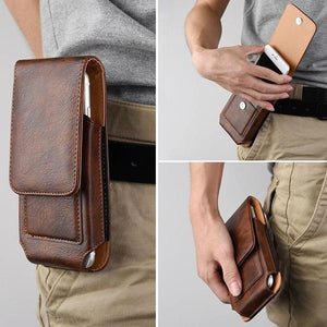 Retro Universal Cell Phone Flip Waist Belt Bag