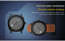 Load image into Gallery viewer, Men's Watches Brushed Leather Men's Watches