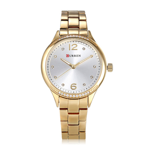 Women's Watch Alloy Band Women's Watch Fashion Waterproof Quartz Women's Watch