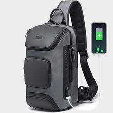 Load image into Gallery viewer, Men's Fashion Outdoor Travel USB Charging Port Sling Chest Bag