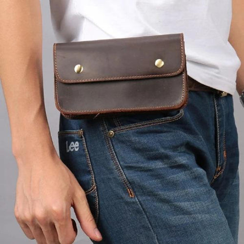 Vintage Cool Belt Pouch Men Waist Bag