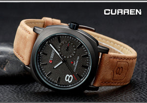 Men's Watches Brushed Leather Men's Watches