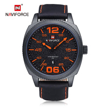 Load image into Gallery viewer, Men's Watches Leather strap quartz men's watches calendar men's watches