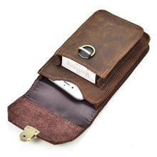 Load image into Gallery viewer, Mens Cigarette Case Belt Loop Cell Phone Holster Waist Bag
