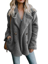 Load image into Gallery viewer, Fleece Fluffy Jacket Shawl Collar Long Sleeve Buttoned Solid Winter Teddy Bear Coat