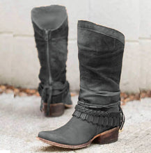 Load image into Gallery viewer, Women Casual Mid-Calf Zipper Low Heel Pu Boots