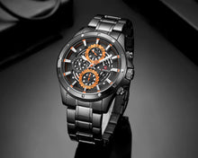 Load image into Gallery viewer, Men's Six Hand Watch Business Men's Steel Strap Watch