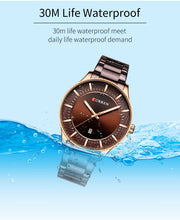 Load image into Gallery viewer, Men's Steel Strap Watch Waterproof Quartz Date Watch