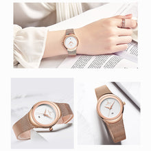 Load image into Gallery viewer, Women's Watch Net Band Date Waterproof Quartz