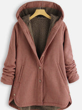 Load image into Gallery viewer, Buttoned Hoodie Casual Cotton-Blend Outerwear