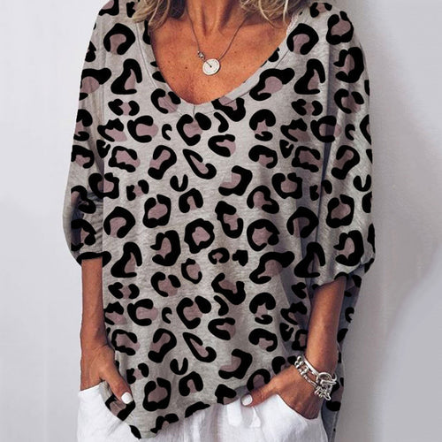 Casual Loose Leopard T-shirt