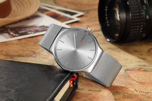 Men's Watch Waterproof Quartz Steel Band Men's Watch