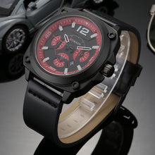Load image into Gallery viewer, Men's watches  waterproof leather quartz watches