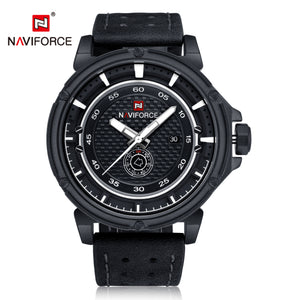 Men's Watches Leather Strap Calendar Men's Waterproof Quartz Watch