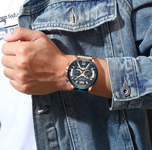 Man's automatic mechanical six - needle watch