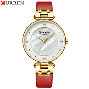 Women's Watch Leather Strap Watch Waterproof Quartz Fashion Casual Women's Watch
