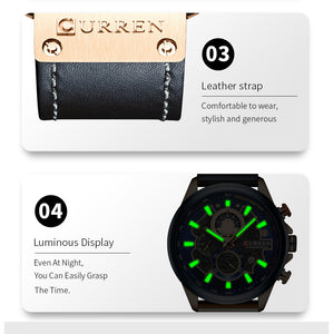 Men's Automatic Watch Calendar Belt Watch