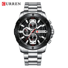 Load image into Gallery viewer, Men's watch - steel band calendar  Foreign Trade watch