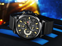 Load image into Gallery viewer, Men's Watches Steel Band Men's Watches Waterproof Quartz Watches