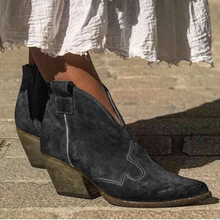 Load image into Gallery viewer, Bohemian mid-heeled pointed booties