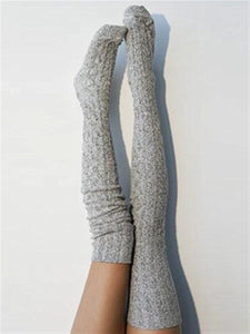 Autumn Winter Casual Basic Daily Warm Knitted Long Stockings