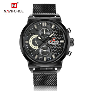 Men's Watches Steel Band Men's Watches Waterproof Quartz Watches