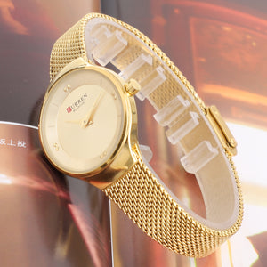 Women's Watch Waterproof Quartz Watch Mesh