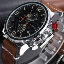Load image into Gallery viewer, Men's Watch Waterproof Leather Quartz Watch