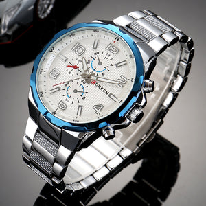 Steel band quartz watches Waterproof watches