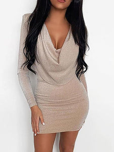 Long Sleeve Sequin Dresses