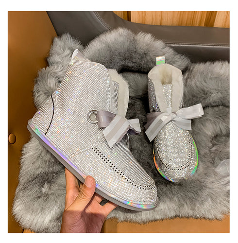 Dazzling wool snow boots
