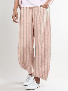 Stripes-Printed Casual Pants