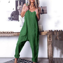 Load image into Gallery viewer, Daily Solid Color Loose Sleeveless Jumpsuits