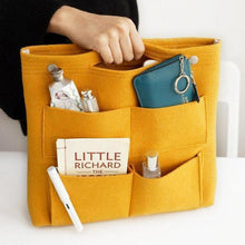 Load image into Gallery viewer, Bag in Bag Felt Casual Travel Multi-pockets Storage Bag Liner Package Cosmetic Bag