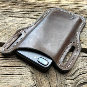 Retro Short Cell Phone Case Belt Bag Purse