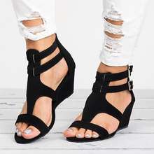Load image into Gallery viewer, Casual Peep Toe Wedge Sandals