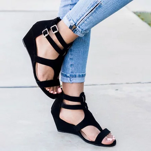 Casual Peep Toe Wedge Sandals