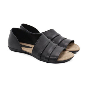 Casual Ruffles Pu Slip-on Flat Sandals