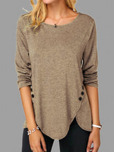 Load image into Gallery viewer, Crew Neck Casual Shift Knitted Shirts & Tops