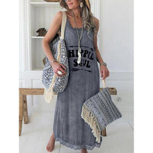 Load image into Gallery viewer, Women Casual Lace Printed Sleeveless Dress