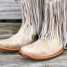 Load image into Gallery viewer, Tassel Artificial Leather Boots Fringe Knee-High Slip-On Boots