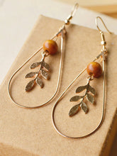 Load image into Gallery viewer, Womens Vintage Alloy Leaf Earrings