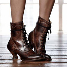 Load image into Gallery viewer, Women's Stiletto Heel Spring/fall Lace-Up Boots