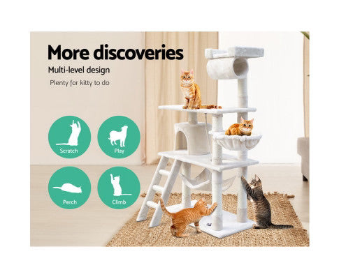 I Pet Cat Tree 141cm Trees Scratching Post Scratcher Tower Condo House Tibo Toy
