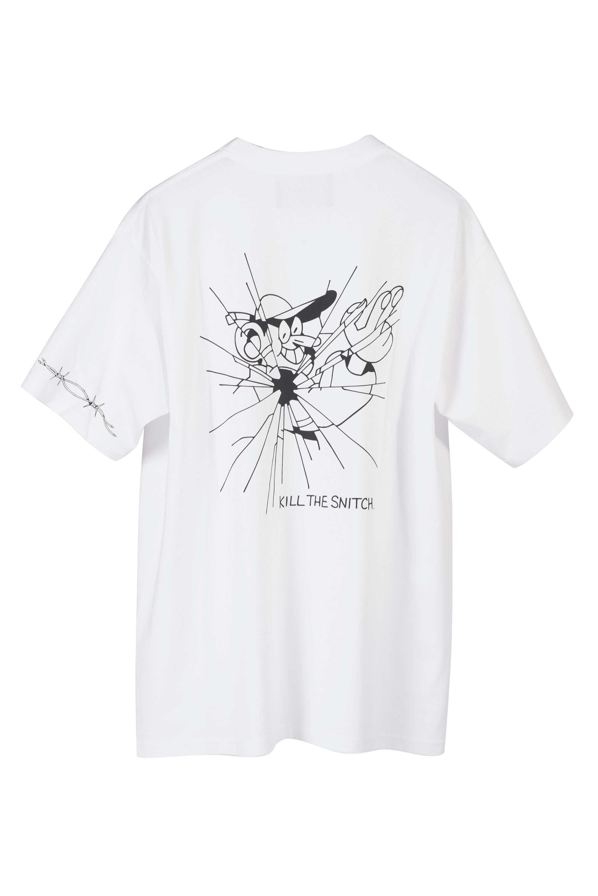 "Lugosis T-Shirt ""Kill The Snitch"" - White"
