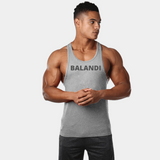 Consistent Grey Stringer | Bodybuilding Stringer | Tank Top Stringer Mens