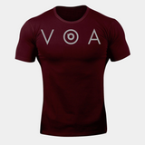 Balandi Gym Grey VOA T-Shirt - Red Workout Fitted T-Shirt | Sportswear Tee
